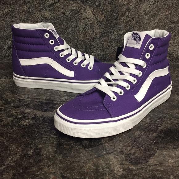 b97fce227add98 Vans Sk8-Hi Canvas Imperial Purple   True White